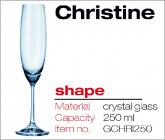 CHRISTINE Champagne flute 250 ml